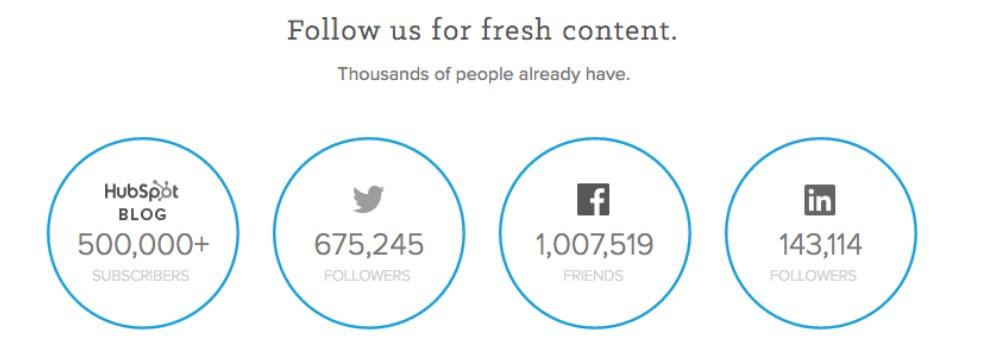 Social Proof - Social Media Stats