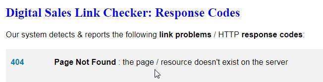 404 Page Not Found Error