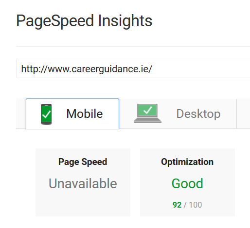 92% PageSpeed for Digital Sales Client - Mobile