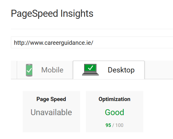 95% PageSpeed for Digital Sales Client - Mobile