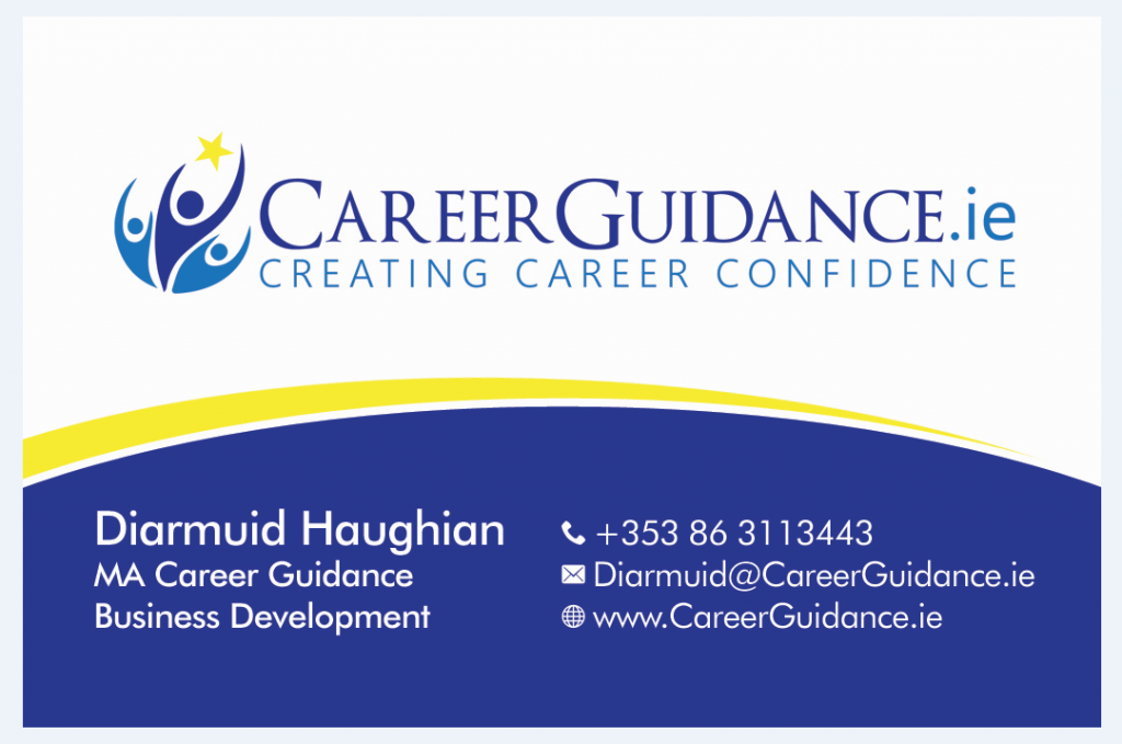 Career Guidance Business Card Front