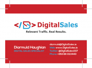 Digital Sales Business Card Front