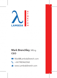 Lambda Stretch Business Card Front