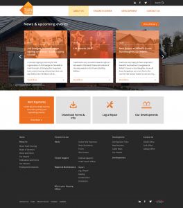 Tuath Housing - Homepage First Draft