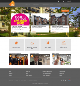 World Class Web Design - Tuath Housing New Homepage